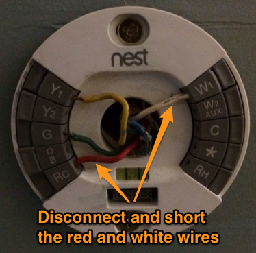 disconnect the red and white